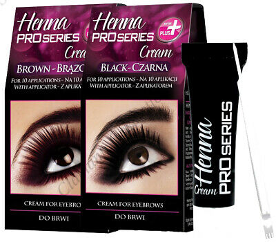 Verona Henna for Eyebrows with Applicator Black or Brown 15ml