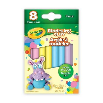 Crayola 8 Pastel Colours Modelling Clay