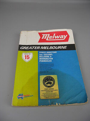 Melway Street Directory 15th Edition 1984 Map Melbourne