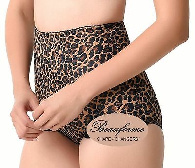 Ladies animal print firm control shapewear girdle underwear briefs