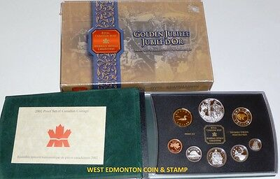 2002 Proof Double Dollar Set - Canadian 8-Coin Set - Case, Box & Certificate