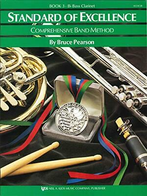 Standard of Excellence Book 3 Bb Bass Clarinet Pearson W23CLB NEW