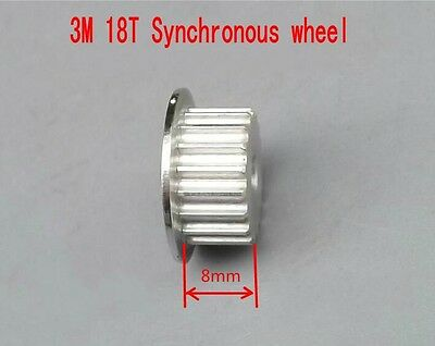 3M 18T Synchronous wheel Aluminum Pulley Precision Gear tight shaft aperture 5mm