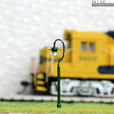 5 x N Scale led street lights Model Railroad Lamp posts Path Lamps #R36N