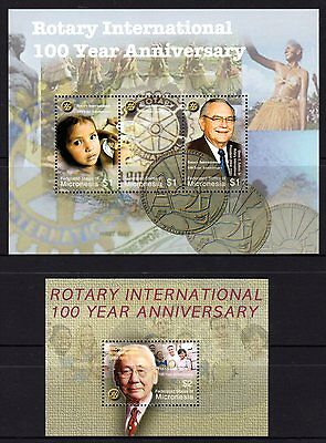 Micronesia 2008 Rotary International Sheetlet 3 + M/S MNH