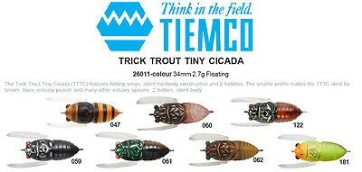 Tiemco Tiny Cicada Lure 34mm 2.7g Bass Surface Lure Choose Color NEW MODEL New