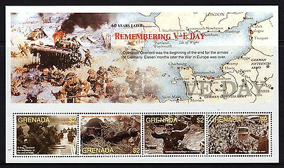 Grenada 2005 Remembering V-E Day Sheetlet 4 MNH