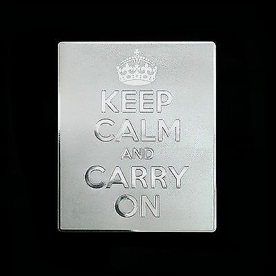 Keep Calm And Carry On Metal Decal Sticker Case Computer PC Laptop (SV)