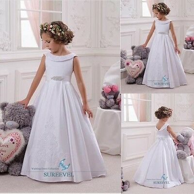 Christening Princess Bridesmaid Dress Flower Girl Dresses Pageant Birthday Dress