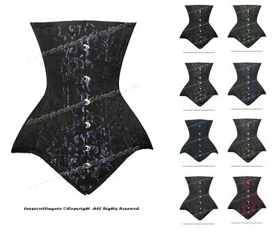 Heavy Duty 26 Double Steel Boned Waist Training Cotton Underbust Corset 8552-BRO