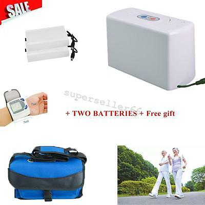 Portable Oxygen Concentrator Generator Home Car/Travel/Home + Battery + Oximeter