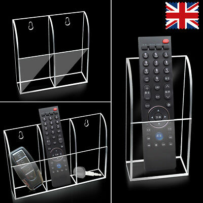 3 Cases TV Air Conditioner Remote Control Holder Wall Mount Storage Box Shelf UK