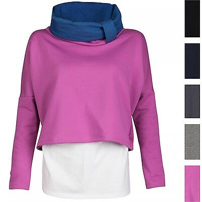 Happy Mama. Women's Nursing Sweatshirt Breastfeeding Layered Top Maternity. 795p