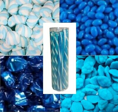 DIY Candy Bar Buffet Blue & White - Bulk Lollies Lolly Wedding Party 4KG