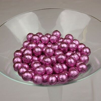 Pink Foiled Gum Balls 1Kg Candy Bar Buffet Wedding, Party Theme Lolly Candy