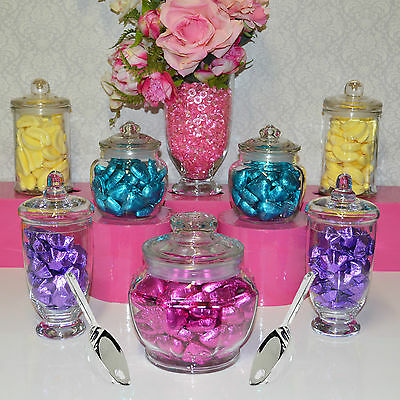 Candy Jars Lolly Buffet 7 x JARS + 2 x SCOOPS Apothecary Jars Birthday Wedding