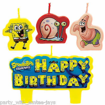 Spongebob Candles - Birthday - Moulded - Aust Seller - Nickelodeon Fast Ship