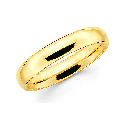 Ring Band Unisex Wedding 22K 23K 24K THAI BAHT YELLOW GOLD GP JEWELRY 5 mm