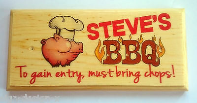 Personalised BBQ Must Bring Chops! - Plaque / Sign / Gift - Garden Shed Sun Dad