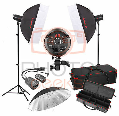Studio Flash Lighting Kit - 800w 2 x 400w Head JINBEI Softbox Strobe Photography
