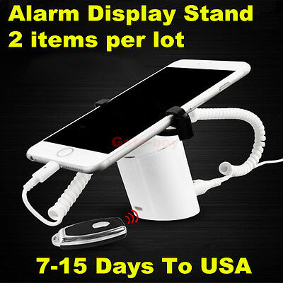2pcs Cell Phone Anti-theft Display Devices Mobile Phone Security Stands +Charger