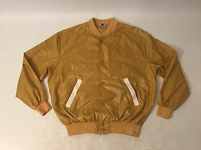 Mens Vintage Nylon Varsity Style Jacket Urban Hipster Sz Small Outfitters Yellow