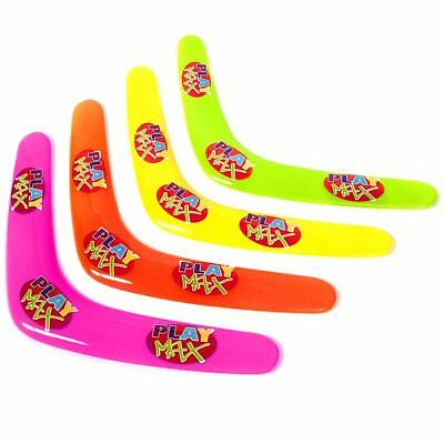Set of 16 Plastic Boomerang Toys - Fun Childrens Outdoor Summer Beach Toys