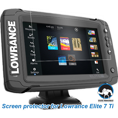 Tuff Protect Clear Screen Protectors for Lowrance Elite 7 Ti Fishfinder (2pcs)