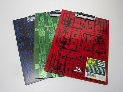 Recycled circuit board clipboard, set of 6