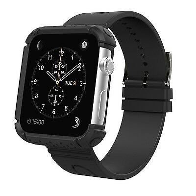 Apple Watch accessories MoKo Rugged Protective Case with Wrist Band for 42mm ...