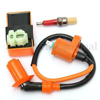 Motorcycle Racing CDI Ignition Coil Spark Plug For GY6 50-150cc 139QMB 152QMI