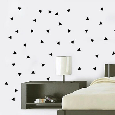 150pcs Mini Triangle Removable Wall Stickers  Decal Nursery Art Mural Decor