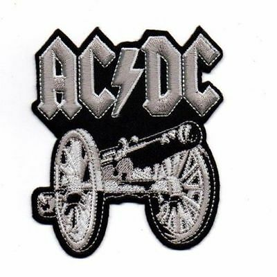 ACDC ROCK NEW HEAVY METAL Embroidered Patch Iron Sew Logo Hardcore Emblem Custom