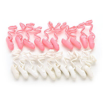 "10 Pairs Ballet Shoes Bind-type for 11"" Barbie Doll Baby Color Random   gt"