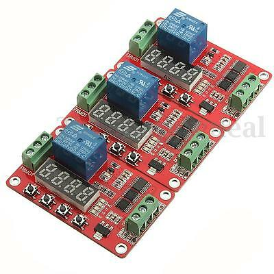 LCD 24V/12V/5V Relay Module Cycle Timer PLC Home Automation Delay Multifunction