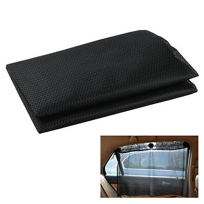 2Pcs Car Side Window Mesh Curtain with Suction Cup for Sun-shading UV Protection
