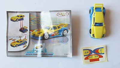 Kinder Auto Gialla Blu Nv079 Con Cartina
