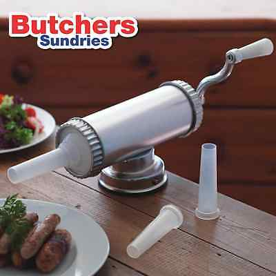 Sausage Meat Stuffer Filler includes 3 NOZZLES to make sizzling sausages