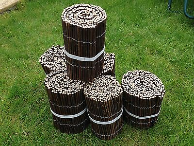 """Willow lawn flower bed garden edging Fencing - 8"""" High x 6 metres long 20ft"""