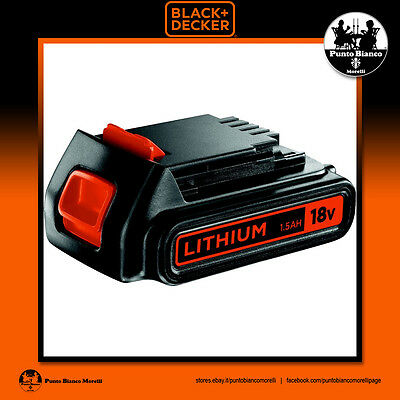 BLACK+DECKER. Batteria litio 18V 1.5Ah - Li-Ion battery | BL1518-XJ