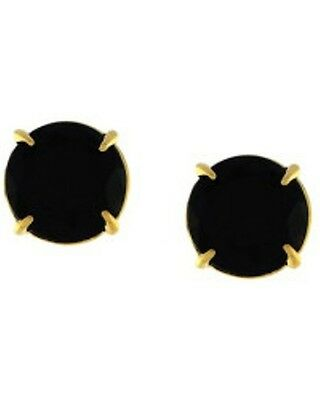 Vince Camuto Black Round Stone Stud Earrings Nwt