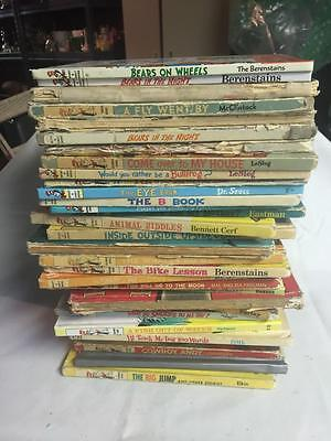 Lot 35 DR SEUSS Beginner Learning Library Book vintage no duplicates