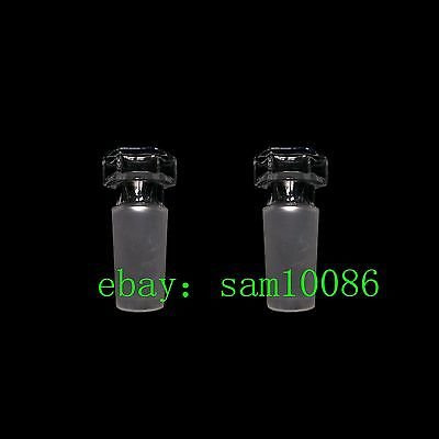 Hollow Glass Stopper, Glass plug, Ground Joint stopper 24/40 lab glassware,2 Pcs