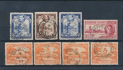 BRITISH GUIANA POSTMARKS VERY FINE USED...8 stamps
