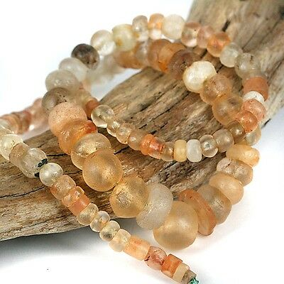 Very Old - Ancient Quartz Stone Bead Strand - African Traded Stone Beads