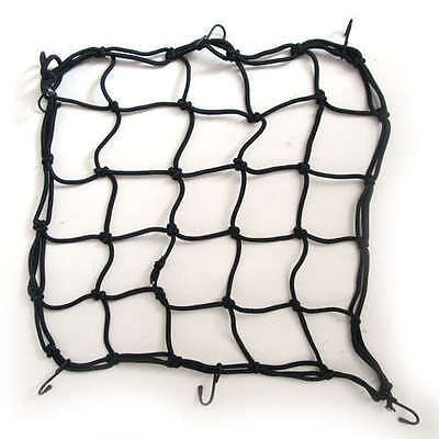 CARGO NET BUNGEE ELASTICATED MOTORBIKE STORAGE NET 15 X15 Black High Tensile 4mm