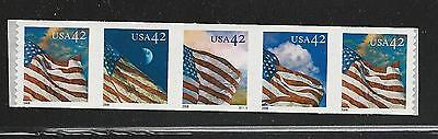 2008 #4236-4239 PNC5 42¢ 24/7 American Flags #S1111