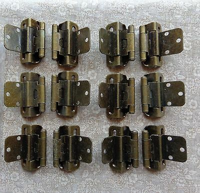 6 Pair (12 Hinges) Partial Wrap Self Closing Cabinet Hinge 3/8 Inset 3/8 Overlay