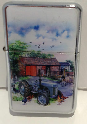 Farmer Farmyard Tractor Design Lighter High Quality  Petrol Wind proof  Gift UK