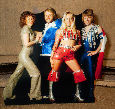 "ABBA Rock & Roll Pop Group, Group Photo Tabletop Standee 8"" Tall"